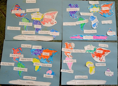 Continents of the World Map Activity- Kid World Citizen