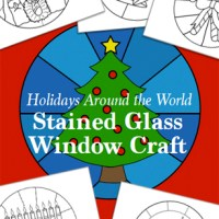 Gorgeous Stained Glass Window Craft with Holidays Around the World