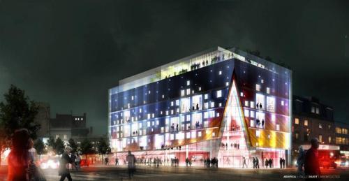 Tham quan khu giải trí và mua sắm Quartier Des Spectacles mới tại Montréal / Ædifica