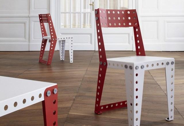 Những chiếc ghế Meccano - Ảnh: contemporist
