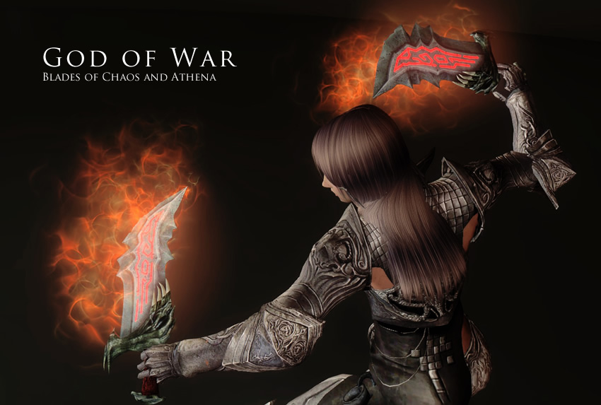 God of War – Blades of Chaos and Athena