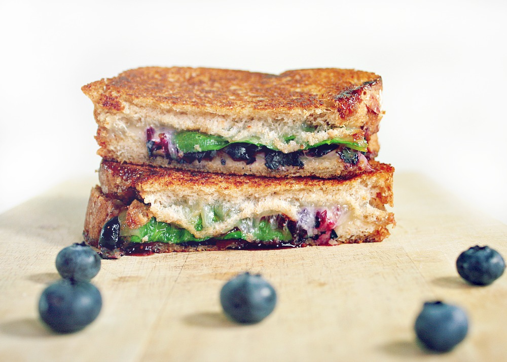 Blueberry Molasses Grilled Cheese