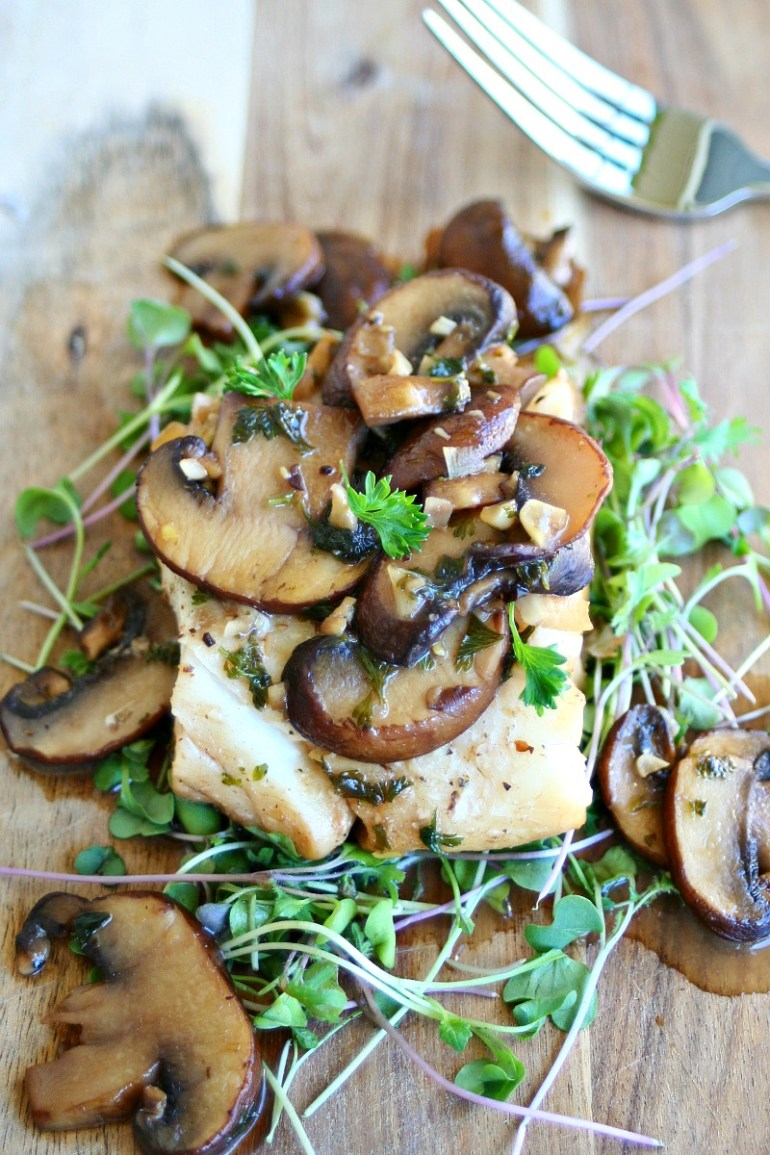 Cod with Beer and Mushroom Sauce 2