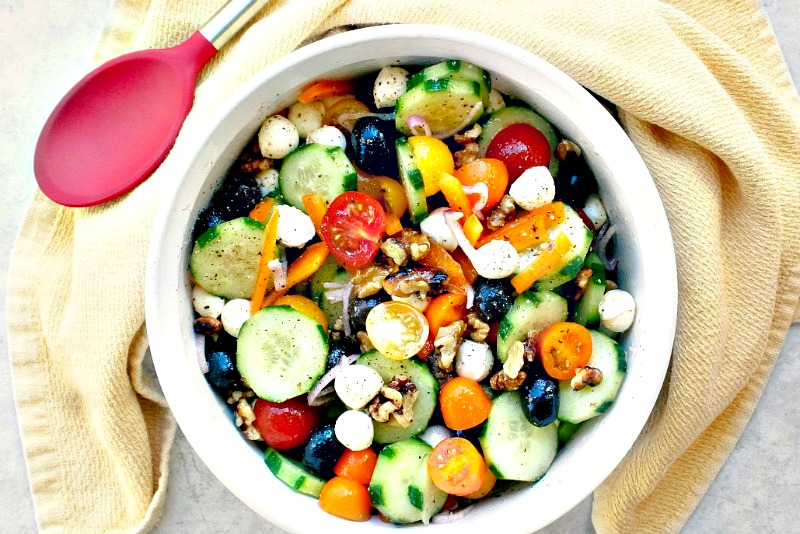 Crunchy Cucumber and Tomato Salad