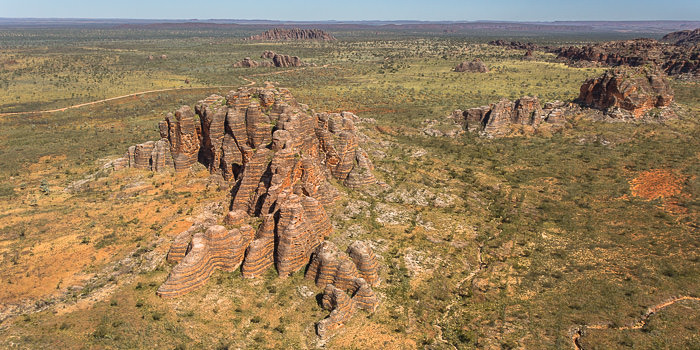 The distinctive stripes of the Bungle Bungles