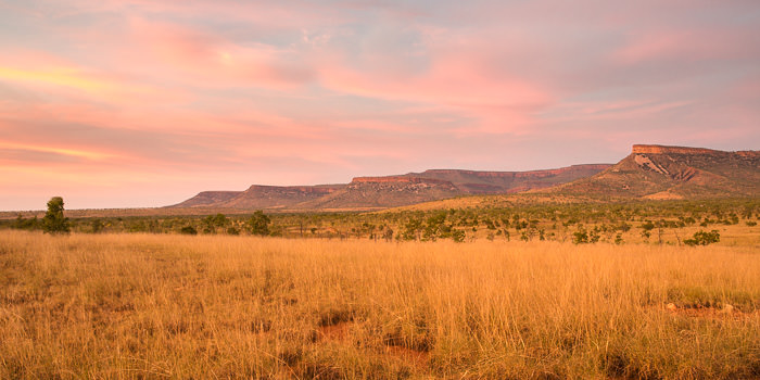 Kimberley sunset over the Cockburn Ranges on the Gibb River Road
