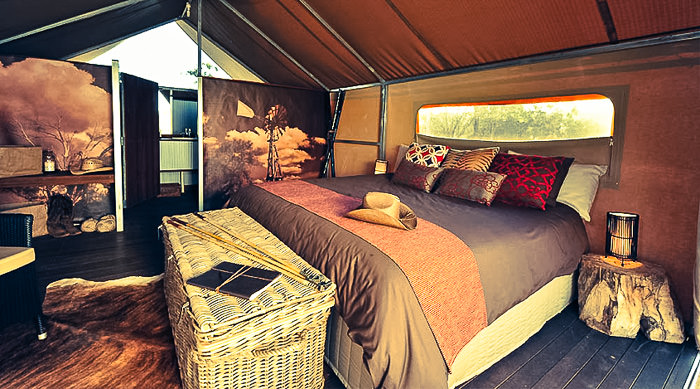 Luxury tent accommodation in the Kimberley