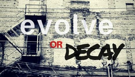 Evolve or Decay show episode graphic