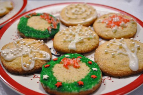 Gluten Free Lemon Almond Cookies decorated by my daughter