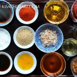 Korean seasonings (양념 Yangnyeom)