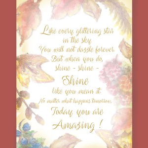 poem amazing letter art fall leaves on dark background display image