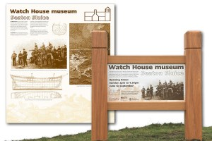 Seaton Sluice watchtower signs