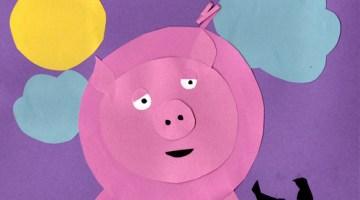 construction paper pig