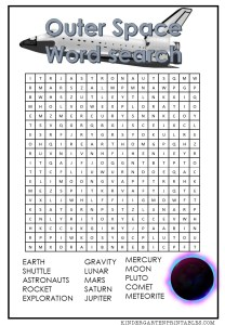 outer space word search