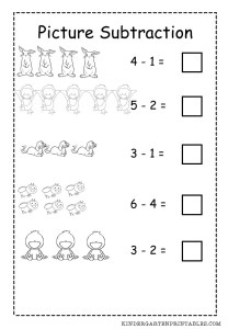 Basic Picture Subtraction Worksheet