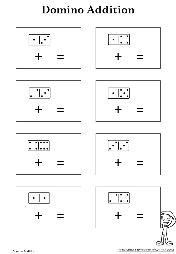 math worksheet : domino addition worksheet  kindergarten printables : Domino Math Worksheets
