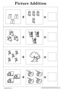 Adding pictures worksheets