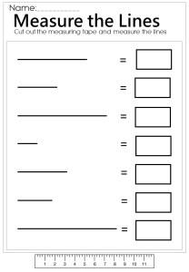 Measure the line worksheet