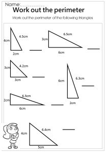 measure the perimeter triangle worksheet