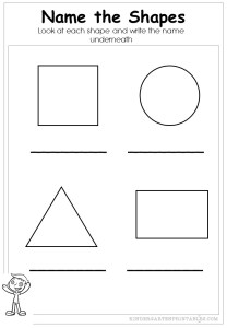 name the shape worksheets