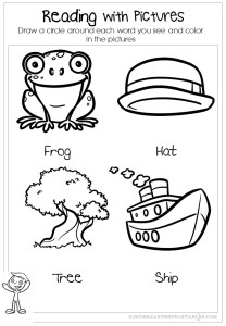 Reading with pictures worksheet