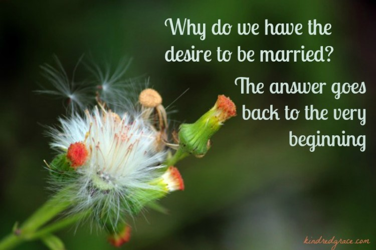 Why do we have the desire to be married? #singleness