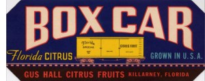 Gus Hall Citrus Fruits - BOX CAR #2