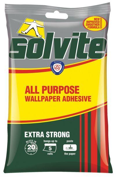 Solvite All Purpose Wallpaper Adhesive 95G | Departments | DIY at B&Q