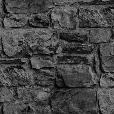 Graham & Brown Charcoal Stone wall Wallpaper | Departments | DIY at B&Q