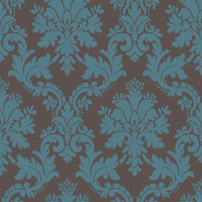 Arthouse Opera Byron Brown & Teal Damask Wallpaper | Departments | DIY at B&Q