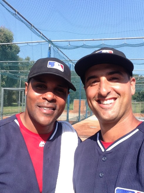 "Me and another coach from camp.  Said his name was ""Barry Larkin""."