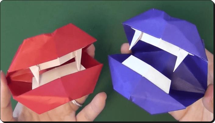 すべての折り紙 ハロウィン 飾り 折り紙 : ハロウィン 折り紙 口