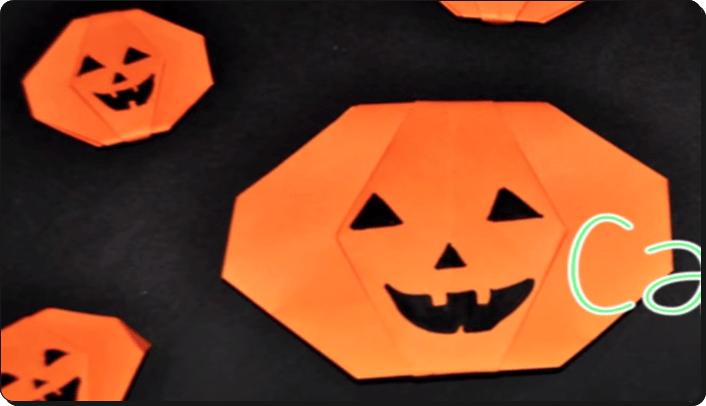 すべての折り紙 折り紙 かぼちゃ : ... 折り紙 かぼちゃ 簡単