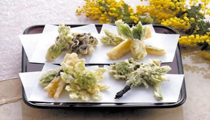 春 料理 山菜天ぷら