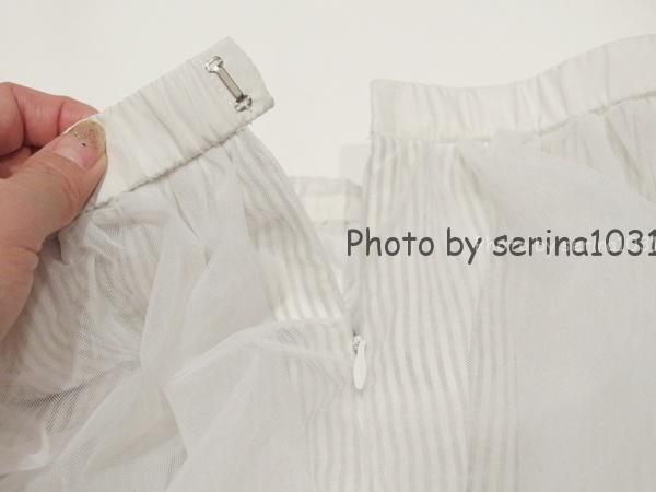 ココディールチュールホワイトスカート