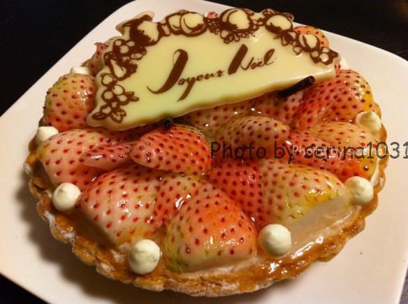 キルフェボン白イチゴケーキ