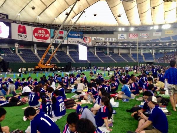 東京ドームW杯パプリックビューイングの写真