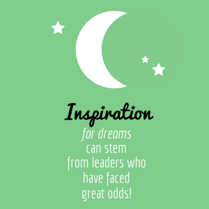 Inspiration, dreams, leaders, odds, great