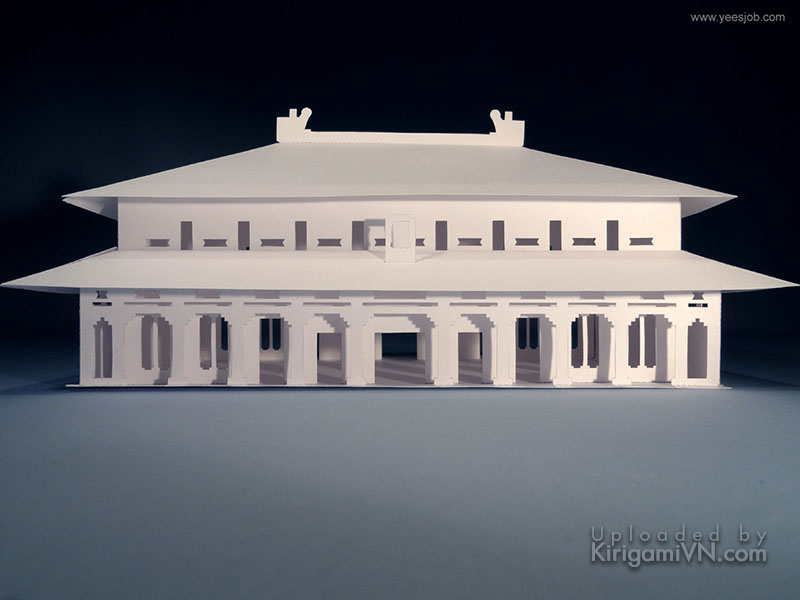 The Hall of Supreme Harmony (The Forbidden City) Pattern Preview KirigamiVN 2