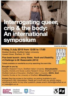 Poster : Interrogating queer,crip & the body: An international symposium