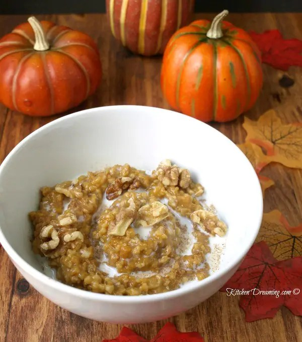 Crock Pot Overnight Pumpkin Pie Oatmeal