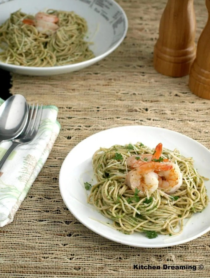 Chimichurri Shrimp Pasta