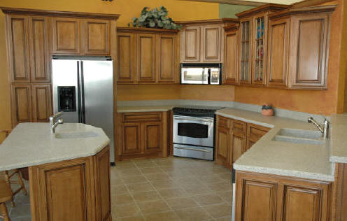 Exellent Maple Cabinets Kitchen Glazed Traditional To Decorating Ideas