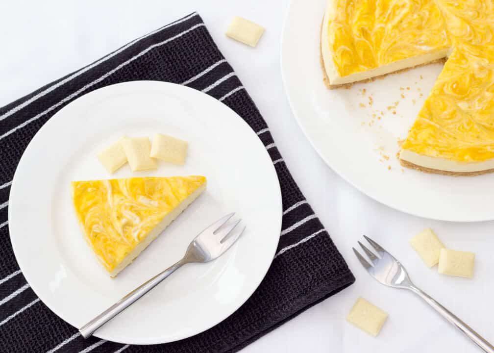 Mango & White Chocolate Cheesecake!