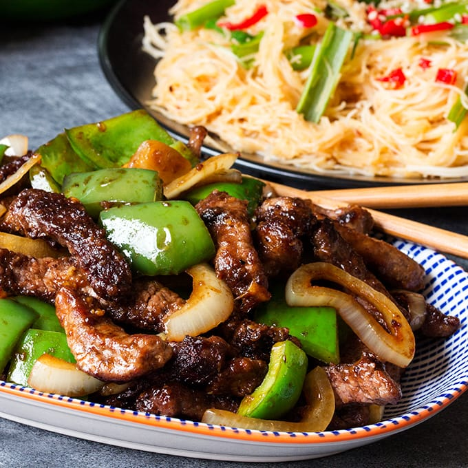 Black Pepper Steak with Chilli Lime Noodles - Nicky's Kitchen ...