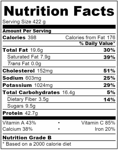 Hidden veg meatballs nutritional information