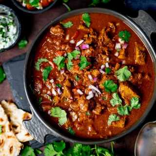 Healthier Slow Cooked Spicy Beef Curry