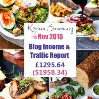Blog Income and Traffic Report November 2015