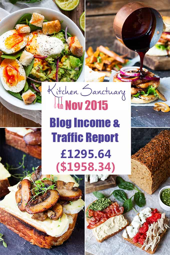 Kitchen Sanctuary Nov 2015 Income Report