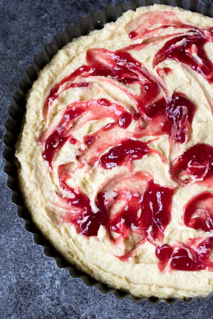 Cherry Almond Tart prep